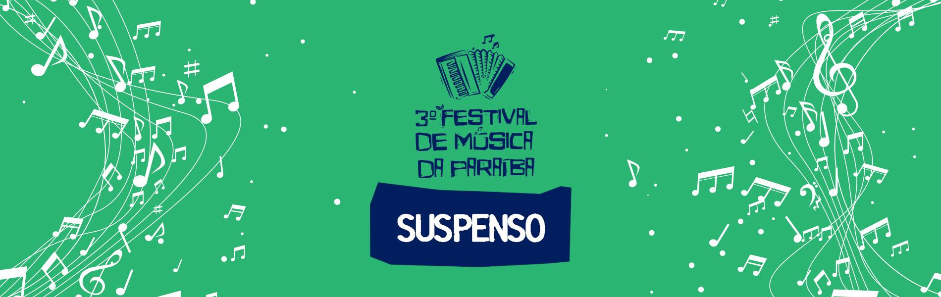 Festival de Música PB - suspenso
